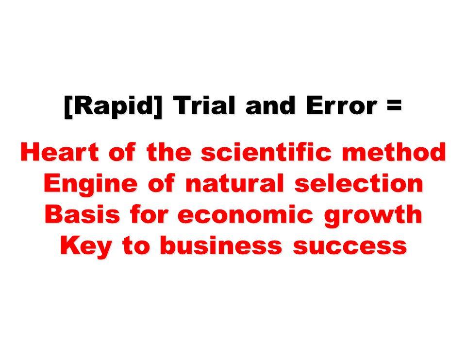 [Rapid] Trial and Error = Heart of the scientific method
